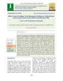 Effect of age of seedlings, weed management methods on yield attributes and economics under system of rice intensifications (SRI)