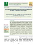 Effect of integrated sources of nutrients on growth, flowering, yield and soil quality of floricultural crops: A review