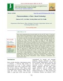 Phytoremediation: A plant - based technology