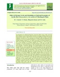 Effect of nitrogen levels and scheduling on yield and economics of aerobic rice (Oryza sativa L.) in vertisols of Chhattisgarh plains