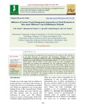 Influence of various weed management approaches on weed dynamics in rice under different crop establishment methods