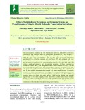 Efect of establishment techniques and cropping systems on transformation of zinc in alluvial soil under conservation agriculture