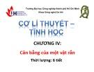 Bài giảng Cơ học lý thuyết - Tĩnh học: Chương 4 - ĐH Công nghiệp TP.HCM