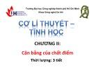 Bài giảng Cơ học lý thuyết - Tĩnh học: Chương 2 - ĐH Công nghiệp TP.HCM
