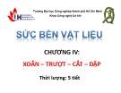 Bài giảng Sức bền vật liệu: Chương 4 - ĐH Công nghiệp TP.HCM