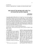 Báo Phụ nữ Tân văn nửa đầu thế kỷ XX với vấn đề nữ quyền ở Nam Bộ
