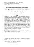 The regional performances of agricultural bank of China applying gee method multiple linear regression