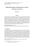 Redistributive impacts of public resources for basic education in cameroon