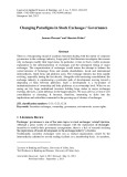 Changing paradigms in stock exchanges' governance