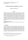 The ratio model and its application: A revisit