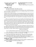 Đề thi thử THPT Quốc gia môn Ngữ văn năm 2020 - THPT Nguyễn Bá Ngọc