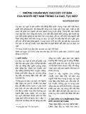 Những chuẩn mực đạo đức cơ bản của người Việt Nam trong ca dao, tục ngữ