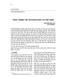 Thực trạng tạp chí khoa học tại Việt Nam