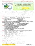 Chinh phục kiến thức Sinh học lớp 12 - Chuyên đề: Di truyền quần thể