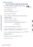 Bài toán đếm tổ hợp trong Hình học