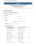 Hàm số - Tóm tắt lý thuyết và công thức hỗ trợ