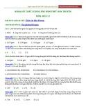 Đề Khảo sát chất lượng đầu năm môn Hóa 12 - Trường THPT Hàn Thuyên