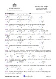 Bài tập rèn luyện thể tích khối đa diện (Mã 112)