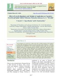 Effect of growth regulators and methods of application on vegetative growth and spike yield of tuberose (Polianthes tuberosa L.) cv. 'Suvasini'