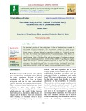 Nutritional analysis of few selected wild edible leafy vegetables of Tribal of Jharkhand, India
