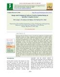 Design and evaluation of software tool for optimal design of sprinkler irrigation system