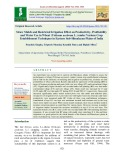 Straw mulch and restricted irrigation effect on productivity, profitability and water use in wheat (Triticum aestivum L.) under various crop establishment techniques in eastern sub-Himalayan plains of India