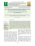 Effect of different levels, sources and methods of application of nitrogen on growth and yield of wheat (Triticum aestivum L.)