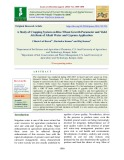 A study of cropping system on rice-wheat growth parameter and yield attribute of alkali water and gypsum application