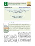 Impact of front line demonstration on chickpea to meet the deficit pulse availability in Malwa plateau and central plateau region of India