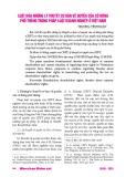 Luật hóa những lý thuyết cơ bản về quyền của cổ đông phổ thông trong pháp luật doanh nghiệp ở Việt Nam
