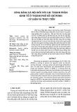 Công bằng xã hội đối với các thành phần kinh tế ở thành phố Hồ Chí Minh - lý luận và thực tiễn
