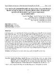Các nhân tố ảnh hưởng đến sự hài lòng của người dân trong sử dụng dịch vụ hành chính công về đăng ký quyền sử dụng đất tại ủy ban nhân dân quận Bình Thủy