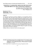 Ảnh hưởng của dinh dưỡng trong đất đến hàm lượng alkaloid trong cây vọng cách (Premma integrifolia (L.)