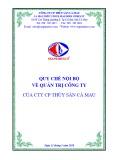 Quy chế nội bộ về quản trị công ty - Công ty Cổ phẩn Thủy sản Cà Mau