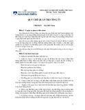 Quy chế quản trị công ty - Công ty Cổ phần Đầu tư và Kinh doanh nhà Khang Điền