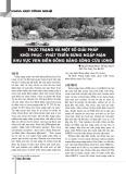 Thực trạng và một số giải pháp khôi phục - phát triển rừng ngập mặn khu vực biển đồng bằng sông Cửu Long