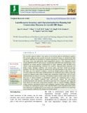 Land resource inventory and characterization for planning soil conservation measures in Aravalli hill slopes