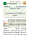 Assessment of clonal fidelity and genetic analysis of tissue culture raised banana (Musa spp.) plant