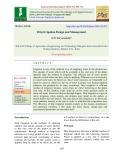 Drip irrigation design and management