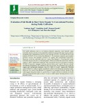 Evaluation of soil health in short term organic vs conventional practices during paddy cultivation