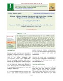 Effect of different manurial practices on soil physical and chemical properties under sri method of rice planting