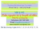 Bài giảng Vật lý A3: Chương 4 - PGS.TS. Lê Công Hảo