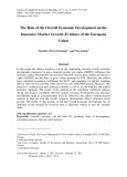 The role of the overall economic development on the insurance market growth – Evidence of the European union