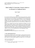 Bank lending to corporations: Scenario analysis as an alternative to traditional metrics