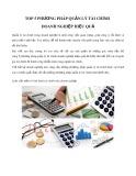 Top 5 phương pháp quản lý tài chính doanh nghiệp hiệu quả