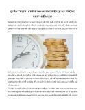 Quản trị tài chính doanh nghiệp quan trọng như thế nào?