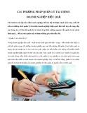 Các phương pháp quản lý tài chính doanh nghiệp hiệu quả