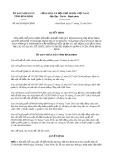 Quyết định 64/2019/QĐ-UBND tỉnh BìnhĐịnh