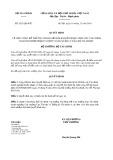 Quyết định 2623/2019/QĐ-BTC