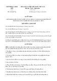 Quyết định 1836/2019/QĐ-TTg